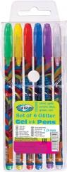 Zestaw długopisów żelowych Brokat - 6 kolorów (83885)
