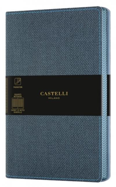 Notatnik 13x21cm kratka Castelli Harris Blue