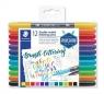 Pisaki dwustronne Staedtler Brush Lettering 0,5-0,8 mm, 12 kolorów (S 3004 TB12)
