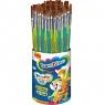 Pędzelki do farb i kleju Bambino, 40 sztuk w kubku