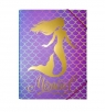 Teczka A4 fioletowa Mermaid
