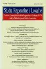 Studia Regionalne i Lokalne 1 (55) 2014