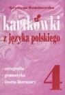 Kartkówki z języka polskiego kl 4