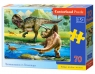 Puzzle 70 Tyrannosaurus vs Triceratops (B-070084)