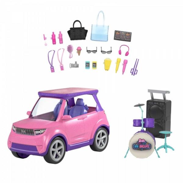 Samochód Barbie Big City, Big Dreams - Koncertowa scena 2w1 (GYJ25)
