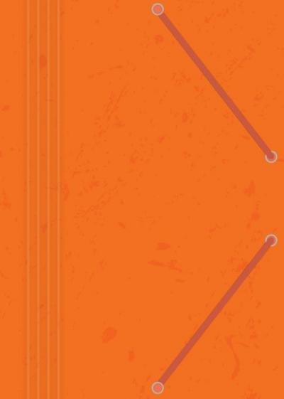 Teczka z gumką A4 z preszpanu pomarańczowa (10szt)
