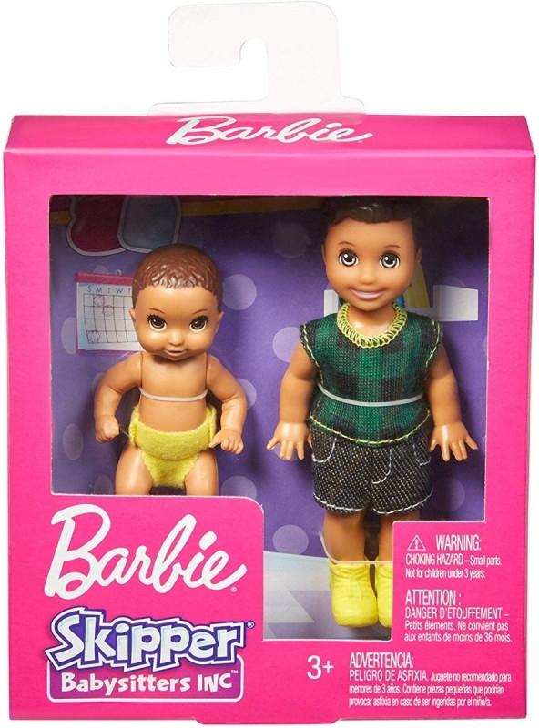 Lalki Barbie Rodzeństwo Brunetka + niemowlę (GFL30/GFL32)