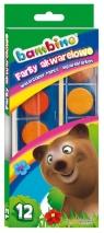 Farby akwarelowe Bambino, 12 kolorów