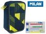 Piórnik MILAN 3-poziomowy z wyposażeniem KNIT żółty