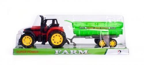 Traktor plastikowy z akcesoriami