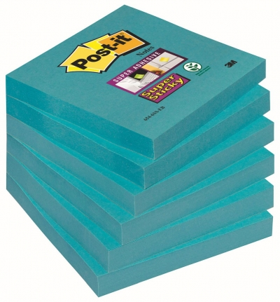 Notes samoprzylepny Post-It niebieski 90k 76 mm x 76 mm (3M-70005198133)