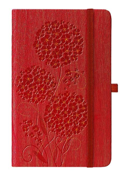 Notes A5 Ivory Geranium czerwony