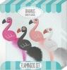 Gumki do mazania - zestaw flamingi