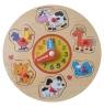 Zegar drewniany z puzzlami