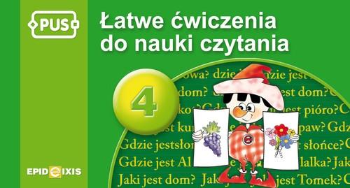 PUS Łatwe ćwiczenia do nauki czytania cz. 4 Chromiak Małgorzata