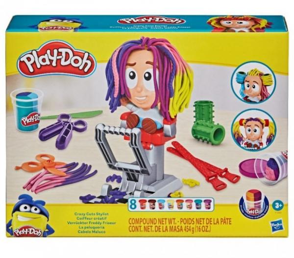 Zestaw z masą plastyczną PlayDoh Fryzjer Nowy (F1260)
