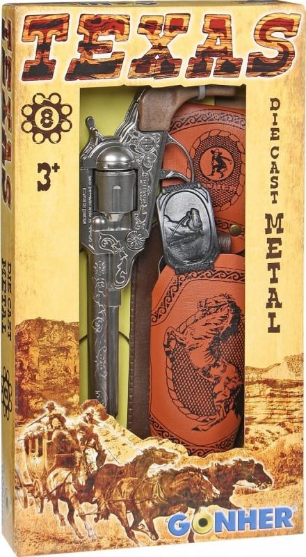 Rewolwer kowbojski metalowy z kabura Gonher (155150/0)