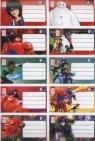 Naklejki szkolne na zeszyty Big Hero 6 10 sztuk