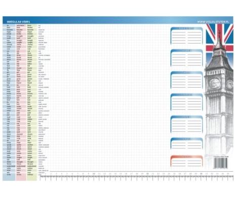 Irregular verbs - podkład na biurko dla ucznia