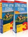 Litwa Łotwa Estonia 3w1 przewodnik + atlas + mapa