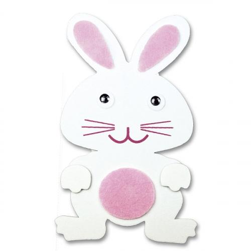 Ozdoba piankowa - Króliczki kolor: biało-różowy (395996)