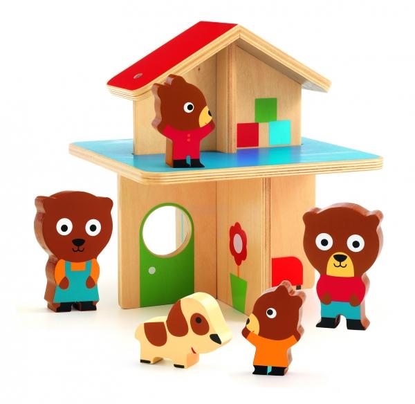 Drewniany domek dla misiów (DJ06386)