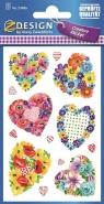 Naklejki z kwiatami - Serca (54486)