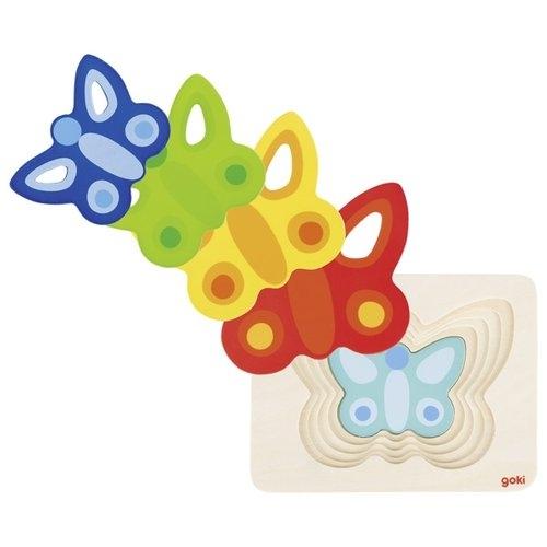 Puzzle warstwowe motylek