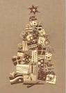 Karnet świąteczny BN B6 złocony świecki