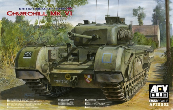 AFV Churchill MK VI75mm Gun (Limited) (35S52)