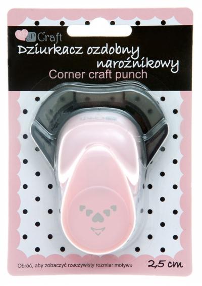 Dziurkacz ozdobny/kreatywny, narożnikowy 2,5cm - serca (JCDZ-210-022)