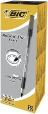 Długopis Round Stic Exact czarny (20szt) BIC