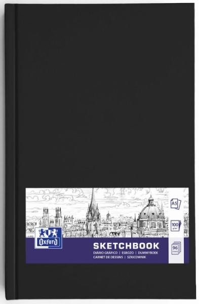 Szkicownik Oxford A5/96k - Czarny (400152622)
