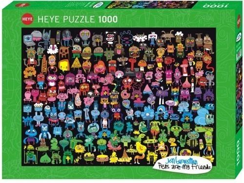 1000 ELEMENTÓW Tęczowe Doodle (29786)