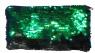 Piórnik cekinowy zielono-czarny