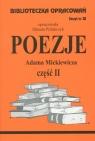 Biblioteczka Opracowań Poezje Adama Mickiewicza cz. II