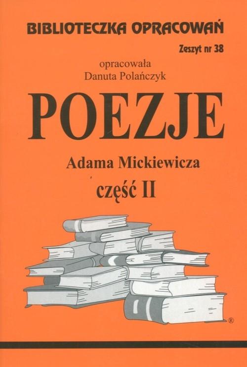 Biblioteczka Opracowań Poezje Adama Mickiewicza cz. II Polańczyk Danuta