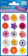 Naklejki błyszczące kwiaty (54386)