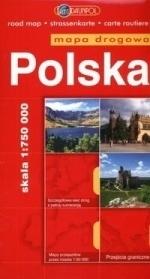 Polska mapa drogowa 1:750000-DAUN praca zbiorowa