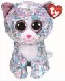 Beanie Boos - Cekinowy Niebieski Kotek 24cm