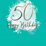 Karnet Swarovski kwadrat Urodziny 50