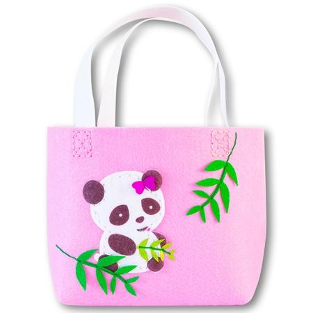 Filcowa torebka Panda różowa (STN 6864)