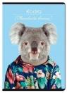 Zeszyt A4 w kratkę 60 kartek Zoo Portraits 5 sztuk mix