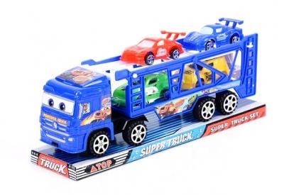 Ciężarówka laweta z autami
