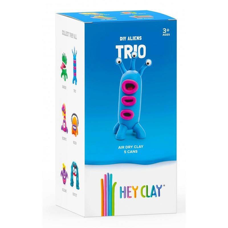 Hey Clay: masa plastyczna - obcy Trio (HCLMA004PCS)