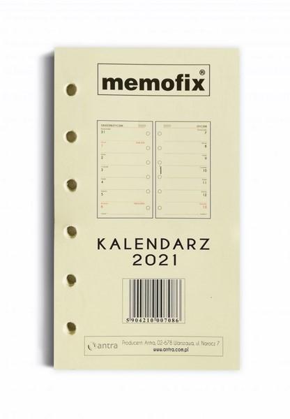 Kalendarz 2021 Memofix wkład do organizera