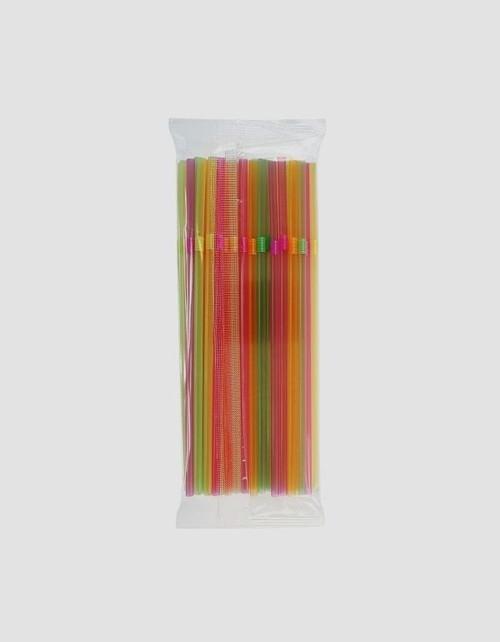 Rurki słomki łamane fluor 50 sztuk