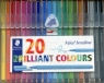 Cienkopis Triplus broadliner 0,8 mm 20 kolorów