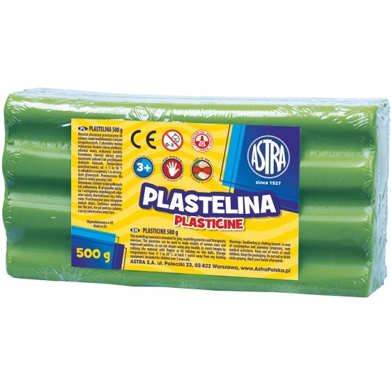 Plastelina Astra, 500 g - zielona jasna (303117010)