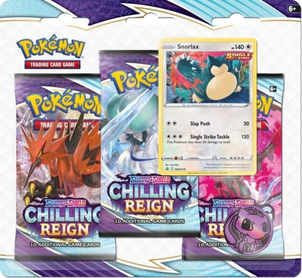 Karty Blister Chilling Reign Snorlax 3-pak (28508 / 8500 A Snorlax)